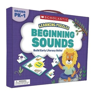 Scholastic Teaching Resources Beginning Sounds Learning Puzzles