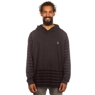 LRG Mens Maelstrom Henley Hoodie Long-Sleeve Shirt - Black Heather