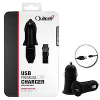 Quikcell 2 Micro USB 1A Car Charger and Data Cable - Black