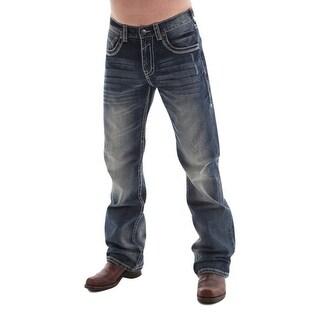 B. Tuff Western Denim Jeans Mens Torque Bootcut Rlx Dark Wash - Medium Wash