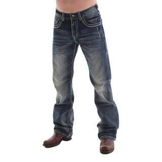 B. Tuff Western Denim Jeans Mens Torque Bootcut Rlx Med Wash MTRQUE