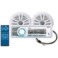 Combo Kit Bluetooth-Enabled In-Dash Receiver, 6.5 In. Marine