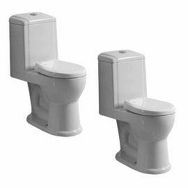 2 Child's Small Porcelain Toilet Potty Training Ceramic China
