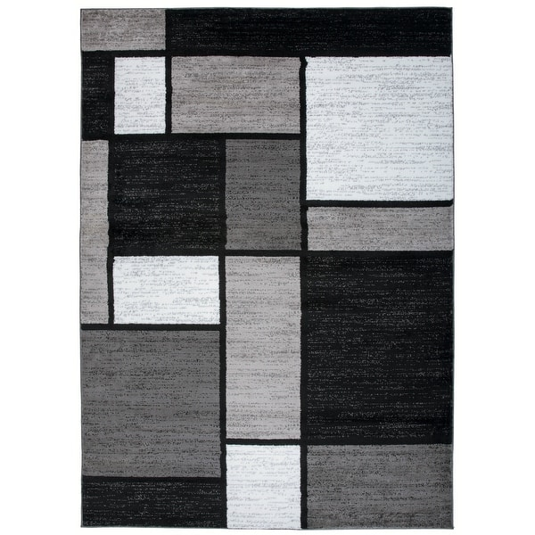 Contemporary Modern Boxed Color Block Area Rug On Sale Overstock 10302952