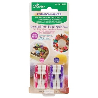 "Pom-Pom Makers Extra Small-.75"" & 1"" 2/Pkg"