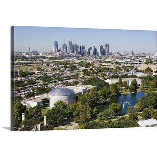 """""""IMAX Theatre and Museums in downtown Dallas, Texas"""" Canvas Wall Art"""