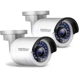 Trendnet Indoor/Outdoor 1.3 Megapixel Hd Poe Ir Bullet Style Network Camera Twin Pack, Digital Wdr, 720P, Ip66 Rated Hou