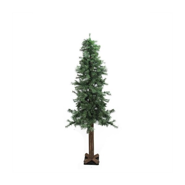 "9' x 52"" Traditional Woodland Alpine Artificial Christmas Tree - Unlit - green"