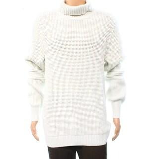 INC NEW Vintage White Mens Size Large L Textured Turtleneck Sweater