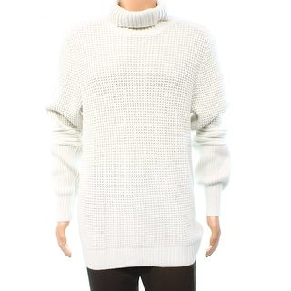 INC NEW Vintage White Mens Size XL Textured Solid Turtleneck Sweater