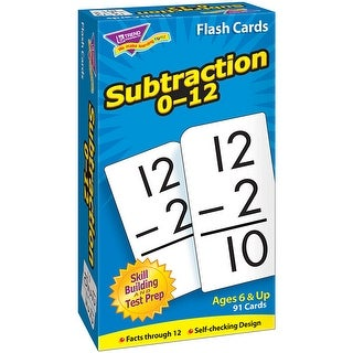 Flash Cards Subtraction 0-12 91/Box