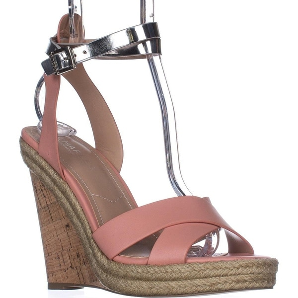 Charles Charles David Brit Wedge Sandals - Blush/Silver - 8
