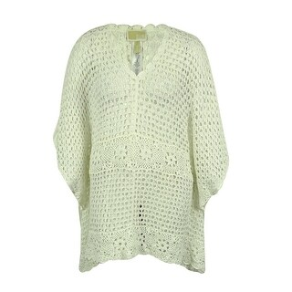 Michael Kors Women's Crochet Tunic - White - 2x
