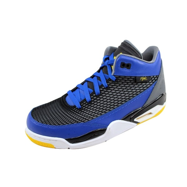 Nike Men's Air Jordan Flight Club 80s Game Royal/Varsity Maize-Cool Grey-Black 599583-489