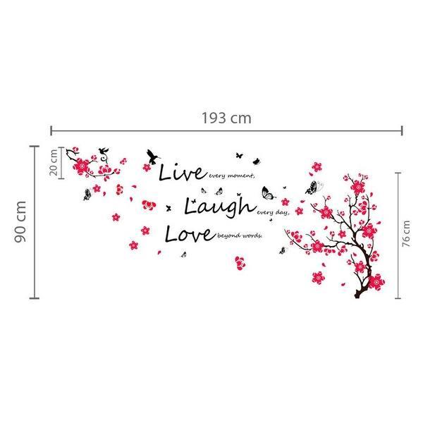 Shop Walplus Blossom Vivid Live Laugh Wall Sticker Wall Decal Home Décor Overstock 32007141