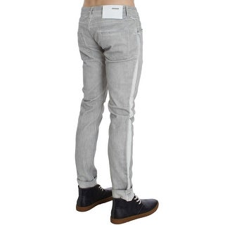 ACHT ACHT Gray Wash Cotton Stretch Slim Skinny Fit Jeans - w34