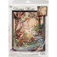 """Mother Nature Counted Cross Stitch Kit-16""""X20"""" 14 Count"""
