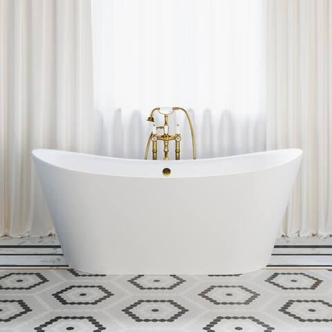 Swiss Madison Ivy? Acrylic Double Slipper Freestanding Bathtub
