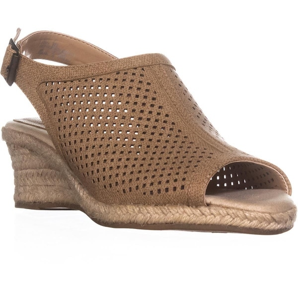 Easy Street Stacy Espadrilles Sandals, Tan