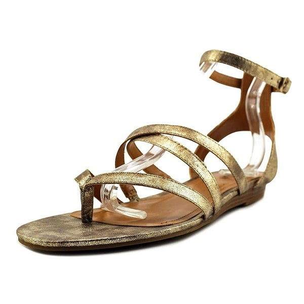 Style & Co. Womens BAHARA Split Toe Casual Gladiator Sandals, Gold, Size 8.0