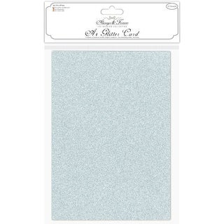 Craft Consortium Always & Forever A4 Glitter Cardstock 10/Pk-Duck Egg Blue