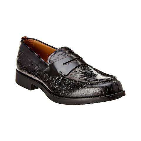 Burberry Emile Monogram Leather Loafer