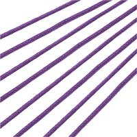 Waxed Cotton Cord 1.5mm Round - Dark Lavender (5 Meters/16.5 Feet)
