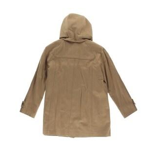 Jones New York Womens Plus Wool Snap Front Coat