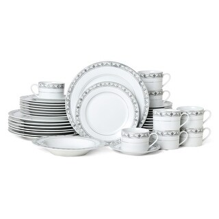 Link to Mikasa Chadwick Gray 40 Piece Dinnerware Set (Service for 8) Similar Items in Dinnerware
