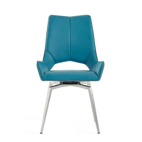 Bucket seat Style Turquoise Dining Chair - N/A