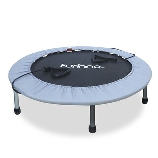 Furinno FT7138MR 38 in. Trampoline with Monitor & Resistance Tube