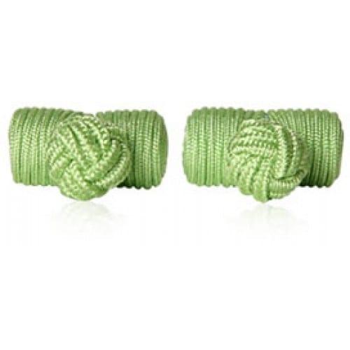 Spring Green Knots Cufflinks