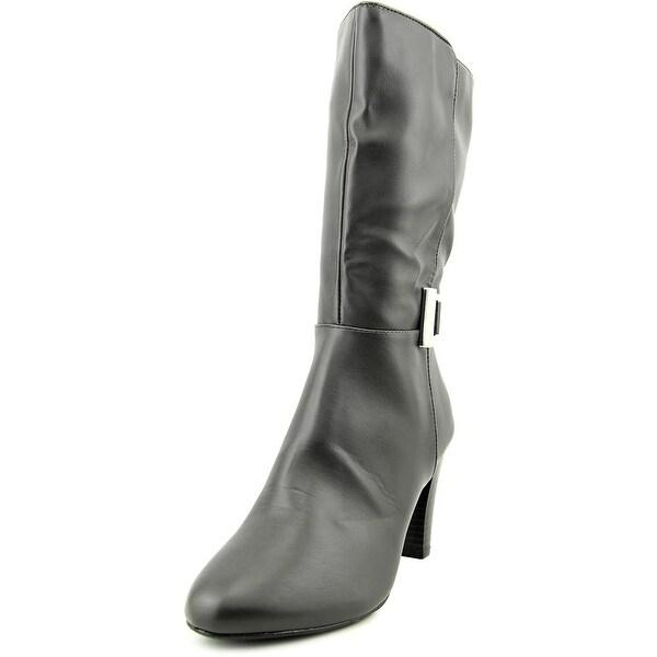 Karen Scott Viivi Women Round Toe Synthetic Gray Mid Calf Boot