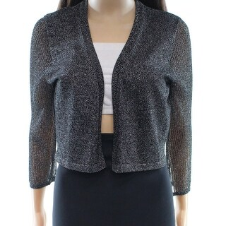Chetta B NEW Black Women's Size Medium M Cropped Metallic Jacket