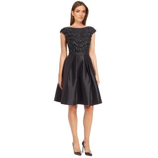 Pamellaby Pamella Roland Beaded Embellished Mikado Party Cocktail Dress