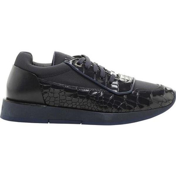 4cc10b2c15ae Jimmy Choo Men  x27 s Jett Crocodile Printed Low Top Sneaker Navy Navy