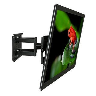 Mount-It! Articulating TV Wall Mount Full Motion Bracket Fits Up To VESA 400x300 Flat Panel TVs