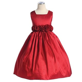 Sweet Kids Girls Red Christmas Flower Girl Pageant Dress 6M-12