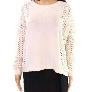 360 Cashmere NEW Ivory Womens Size Large L Knitted Pullover Sweater