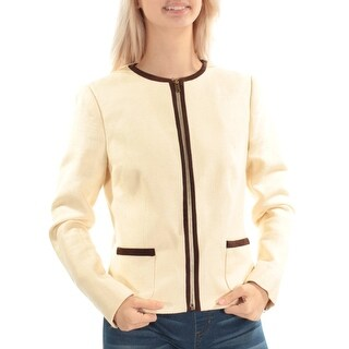 RALPH LAUREN $275 Womens New 1199 Ivory Zip Up Wear To Work Jacket 4 B+B
