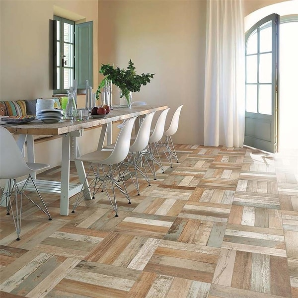 SomerTile 17.63x17.63-inch Royals Bretagne Ceramic Floor and Wall Tile (5 tiles/11.02 sqft.). Opens flyout.