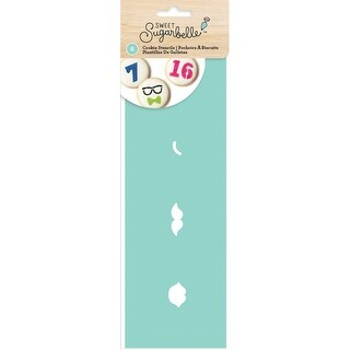 Sweet Sugarbelle Decorating Stencil 6/Pkg-Expressions & Numbers