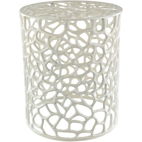 Caiside White Modern Metal Stool