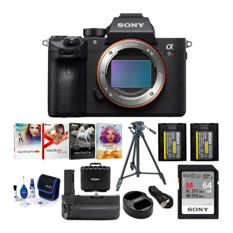 Sony Alpha a7R III Mirrorless Camera (Body Only) with Accessory Bundle