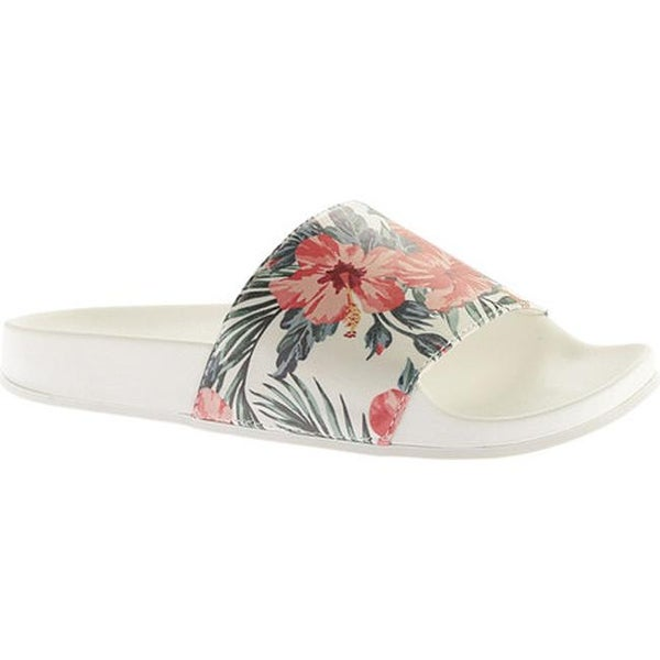 Portland Boot Company Women's Roslyn Floral Slide Coral Floral
