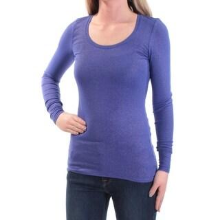 ENERGIE $16 Womens New 1206 Purple Scoop Neck Long Sleeve Top XS Juniors B+B