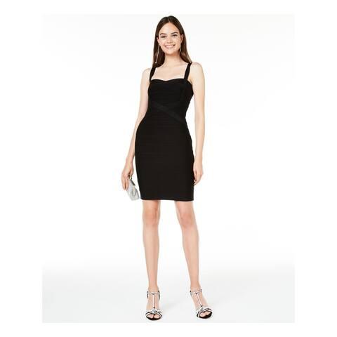 JUMP Womens Black Sleeveless Short Body Con Cocktail Dress Size XS