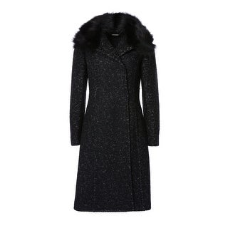 Elie Tahari Tailored Fitted Wool Coat with Collar