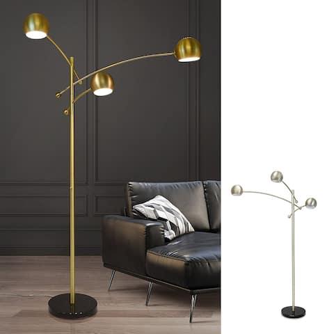 """HOMEGLAM Spheres 85""""H 3 light Swivel Arm Floor Lamp"""