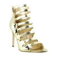 Katy Perry Womens Kp0001 Gold Open Toe Heels Size 7